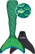 Fin Fun Meerjungfrau Mermaidens grün, S/M